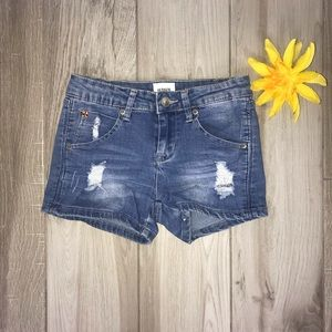 Hudson Girls Distressed Denim Shorts Size 10